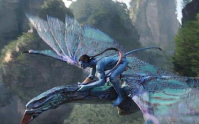 阿凡达,驯服坐骑飞行在悬空岛之间,如果有3D眼镜,就更震撼了