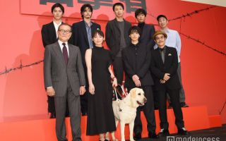 《看不见的目击者》试映会 导盲犬惊喜出场