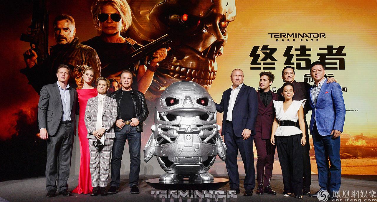 《终结者:黑暗命运》北京首映 施瓦辛格领衔全员震撼集结