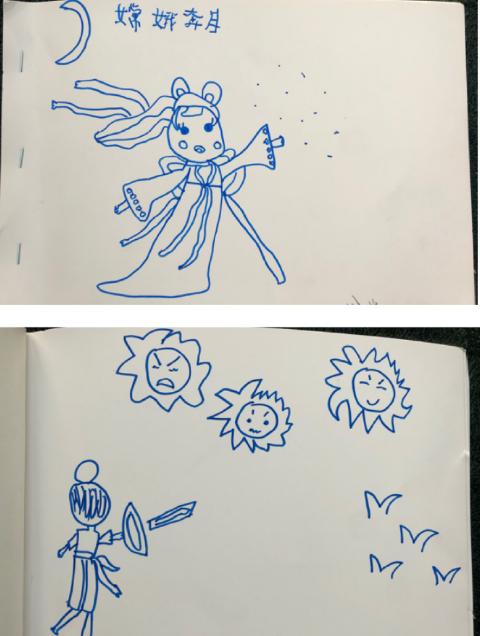 朱亚文老婆晒女儿画的图画故事,颇有当编剧潜质,5岁哈哈想象力丰富